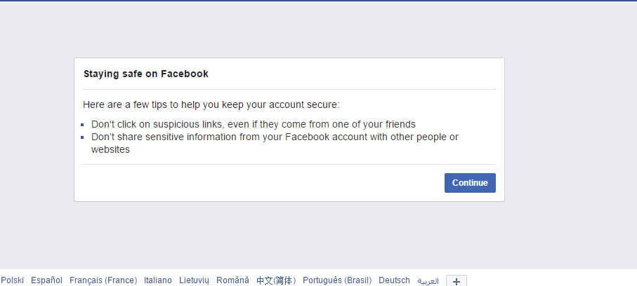I'm getting problem to login my Facebook account