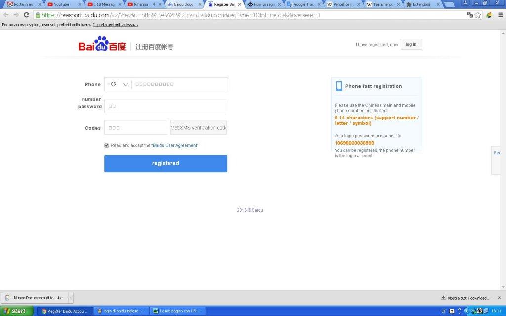 How to register in Baidu?