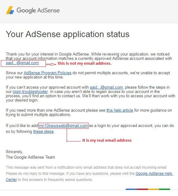 google adsense approval problem