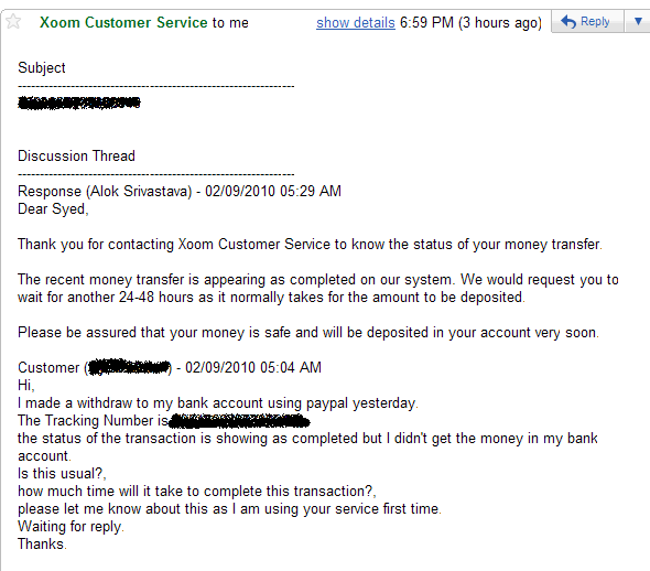 Withdrawal to India banks from Paypal through XOOM is Working