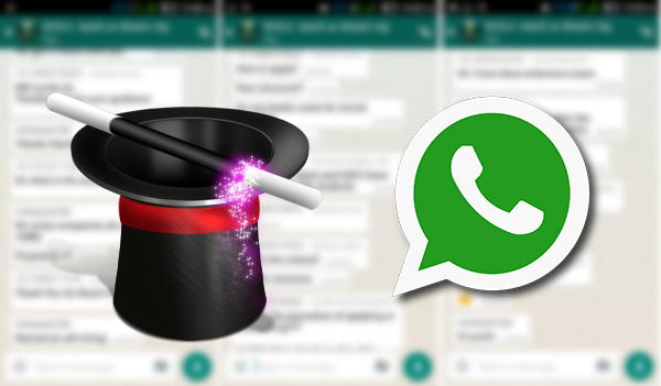 The trick to send messages or images on whatsapp disappear